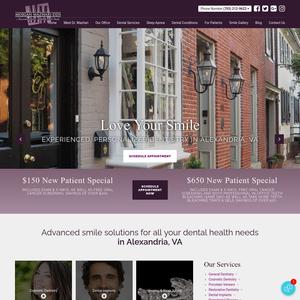 Alexandria Dental Health & Smile Studio website