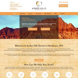 Amber Hills Dental website