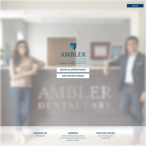Ambler Dental Care website