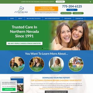 Atencio Family Dentistry website