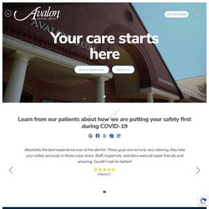 Avalon Dental Group website