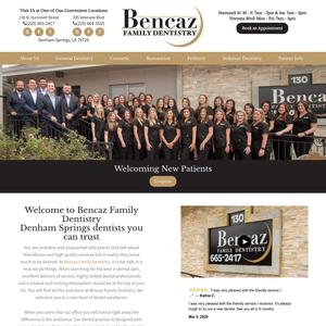Bencaz Family Dentistry website