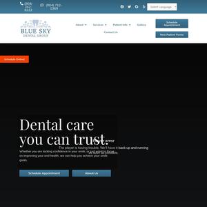 Blue Sky Dental Group website