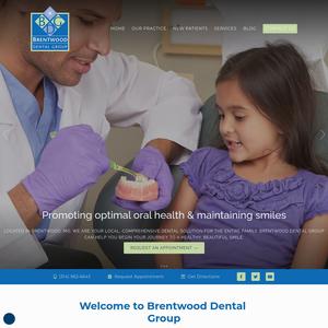 Brentwood Dental Group website
