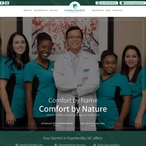 Carolina Comfort Dental website