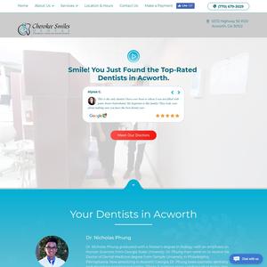 Cherokee Smiles Dental website