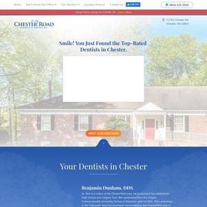 Chester Road Family Dental website