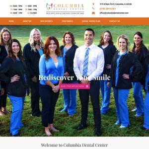 Columbia Dental Center website