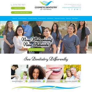 Cosmetic Dentistry of Hayward website