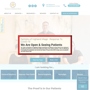 Dentistry of Highland Village website