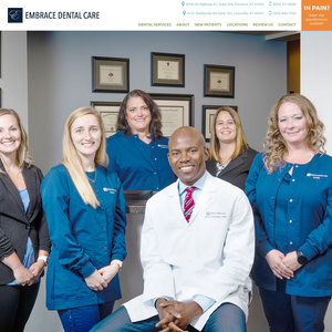 Embrace Dental Care website