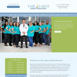 Fair Lakes Family Dentistry website
