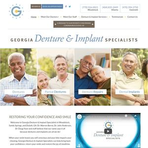 Georgia Denture & Implant Specialists website