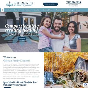 Gilreath Dental Associates website