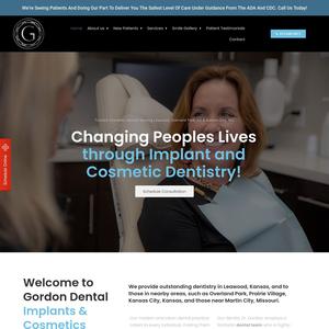 Gordon Dental of Leawood website