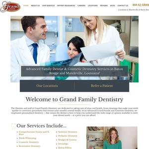 Grand Family Dentistry website