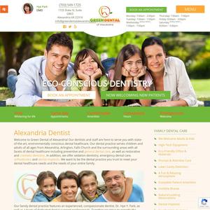 Green Dental of Alexandria website