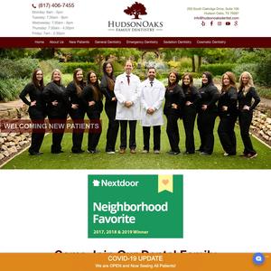 Hudson Oaks Family Dentistry website