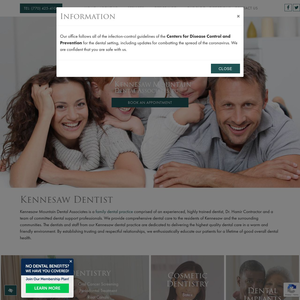 Kennesaw Mountain Dental Associates website