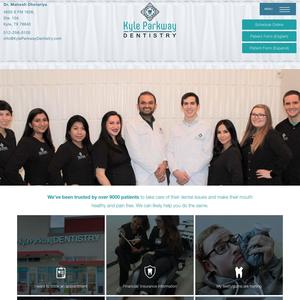 Kyle Parkway Dentistry website