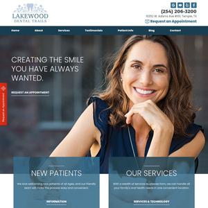 Lakewood Dental Trails website