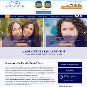 Lawrenceville Family Dental Care website