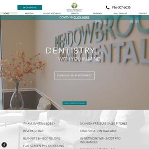 Meadowbrook Family Dental website