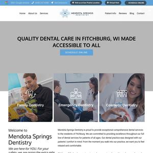 Mendota Springs Dentistry website