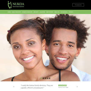 Nukoa Family Dentistry website