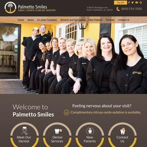 Palmetto Smiles of Charleston website