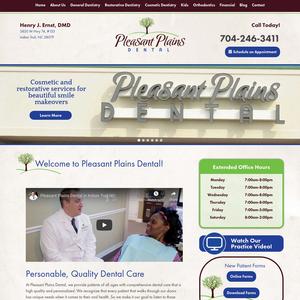 Pleasant Plains Dental website