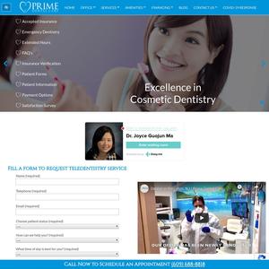 Prime Dental Care website