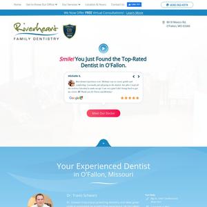 Riverheart Family Dentistry website