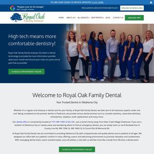 Royal Oak Family Dental website