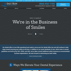 Salt Run Family Dentistry website
