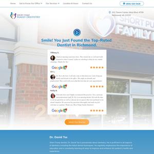 Short Pump Family Dentistry website