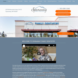 Spanaway Family Dentistry website