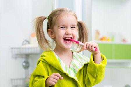 kid at pediatric dentist