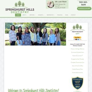 Springhurst Hills Dentistry website