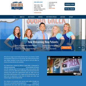 Sugar Creek Family Dental website