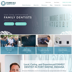 Sycamore Hills Dentistry website
