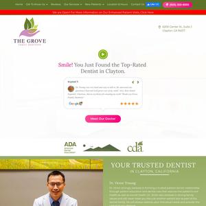 The Grove Family Dentistry website