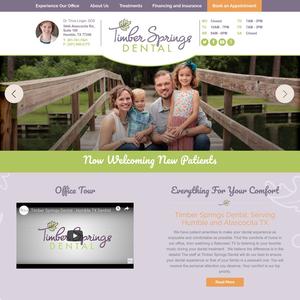 Timber Springs Dental website