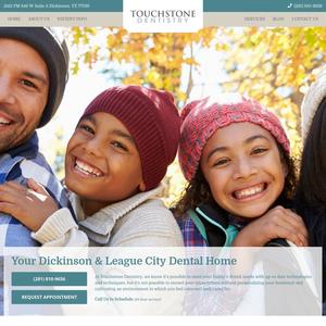 Touchstone Dentistry website