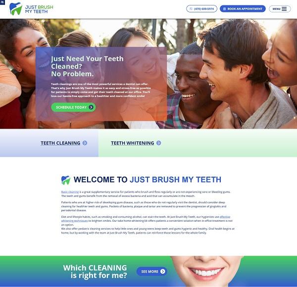 Just Brush My Teeth website