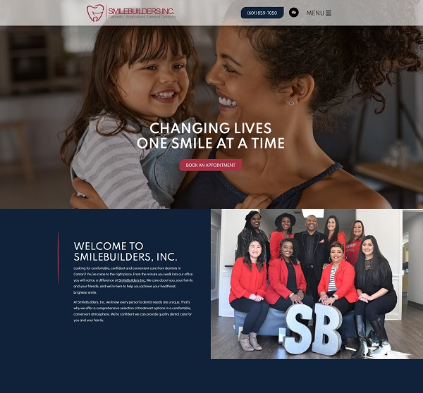 SmileBuilders, Inc. website