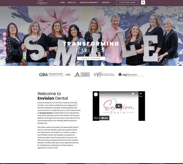 Envision Dental website